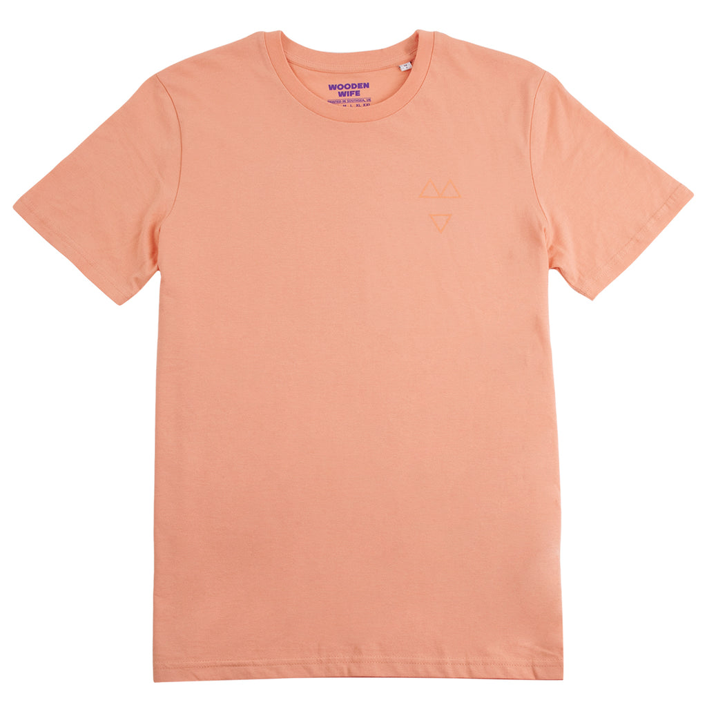 Wooden Wife Tonal T Shirt in Sunset Orange