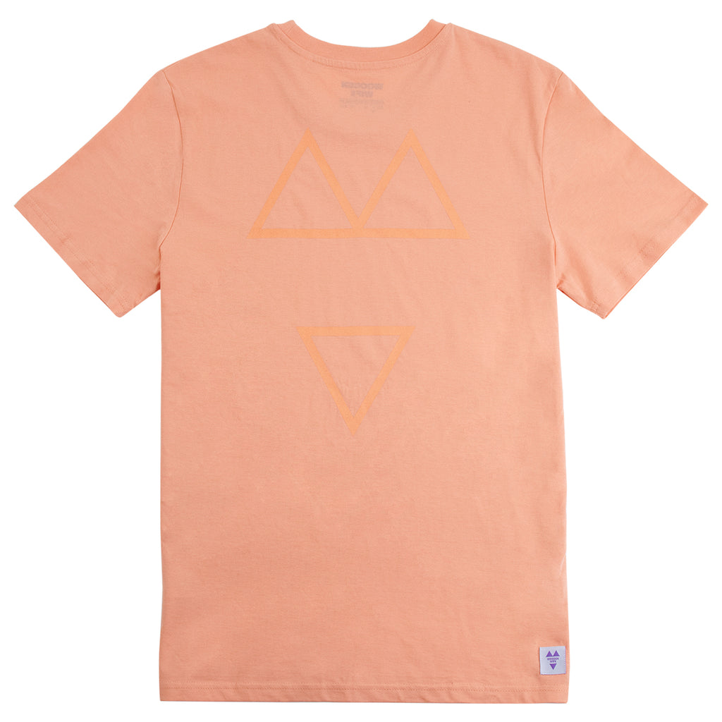 Wooden Wife Tonal T Shirt in Sunset Orange - Back Print