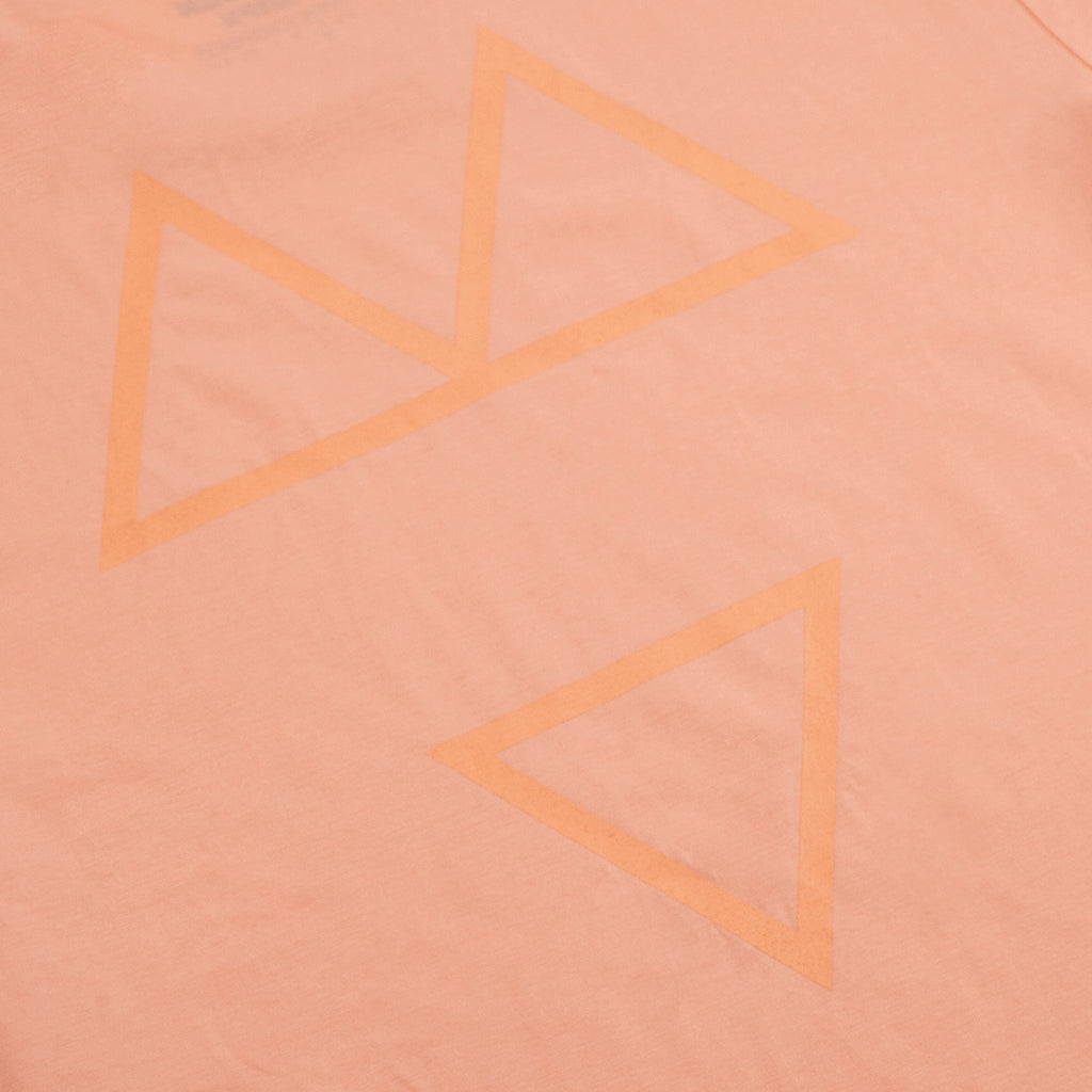 Wooden Wife Tonal T Shirt in Sunset Orange - Print Back