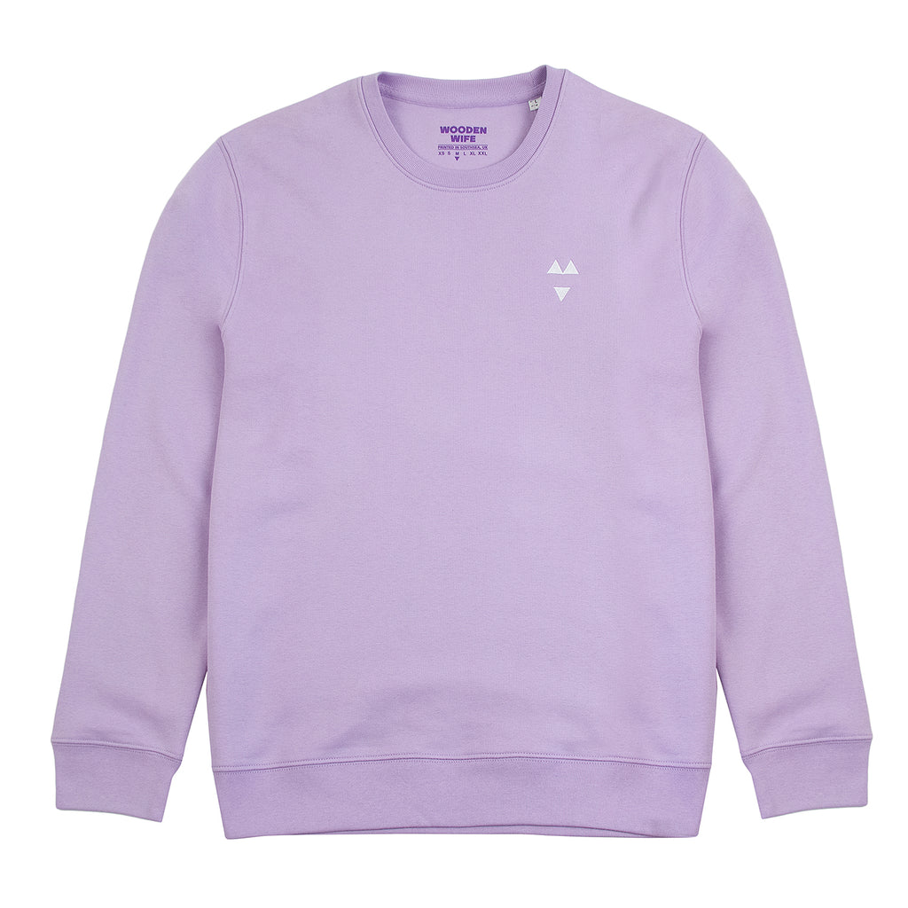 Wooden Wife Skateboards Logo Sweatshirt in Lilac