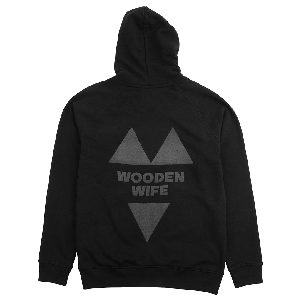 Wooden Wife Skateboards Hi-Vis Logo Hoodie in Black
