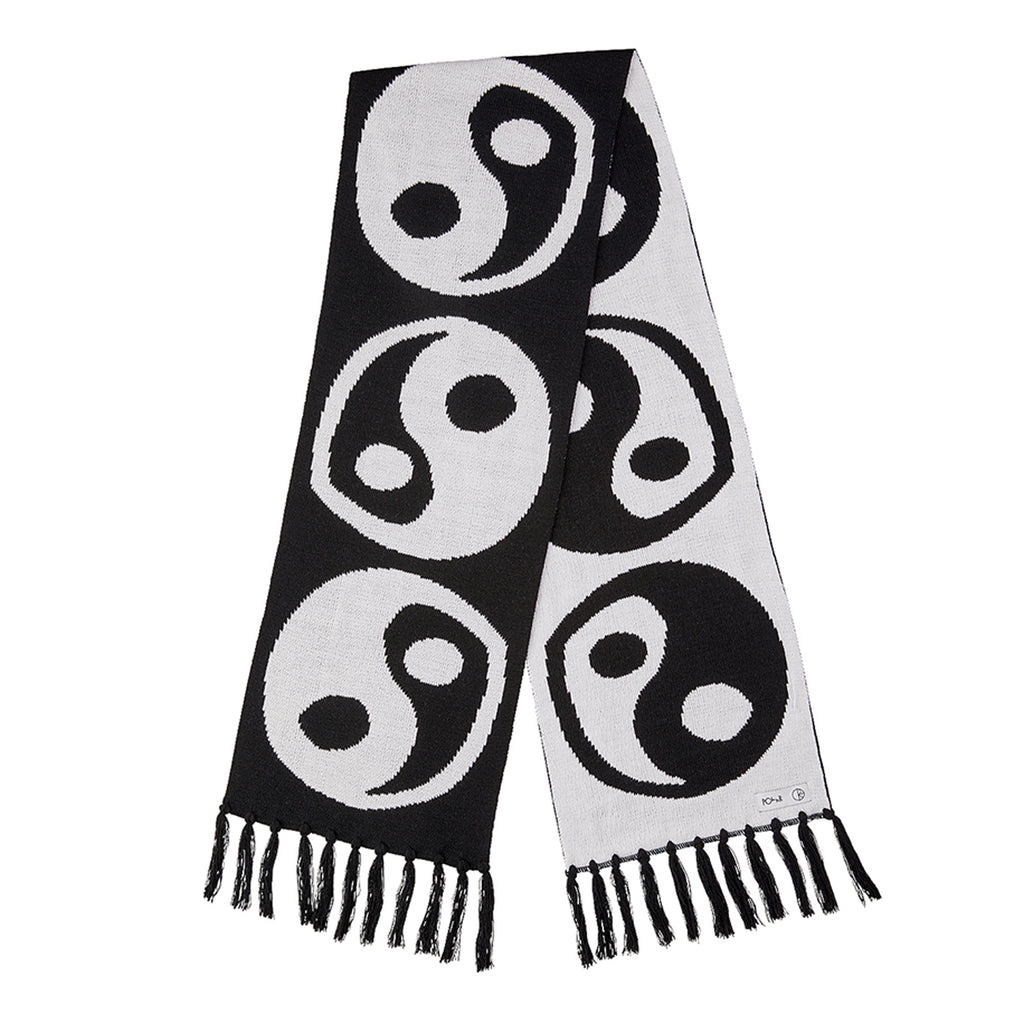 Polar Skate Co Ying Yang Scarf in White / Black