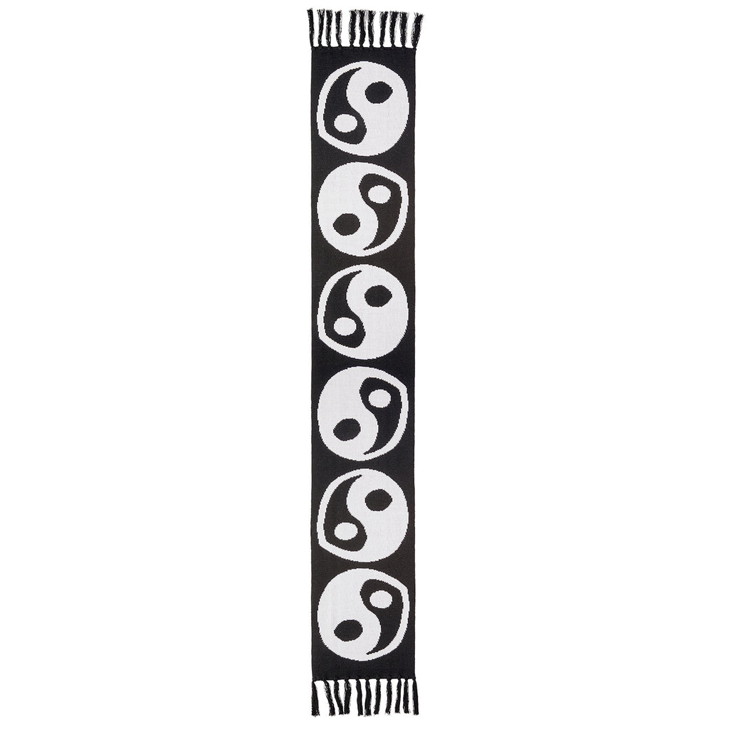 Polar Skate Co Ying Yang Scarf in White / Black - Front