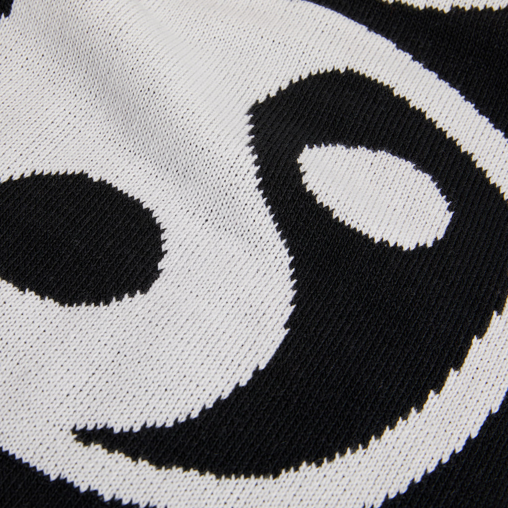 Polar Skate Co Ying Yang Scarf in White / Black - Jacquard
