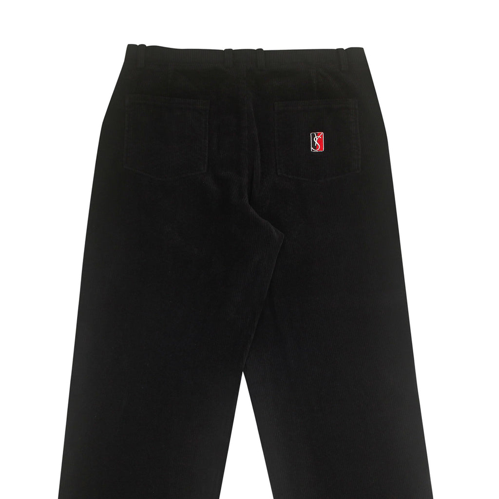 Yardsale Corduroy Slack Trousers in Black / White - Back