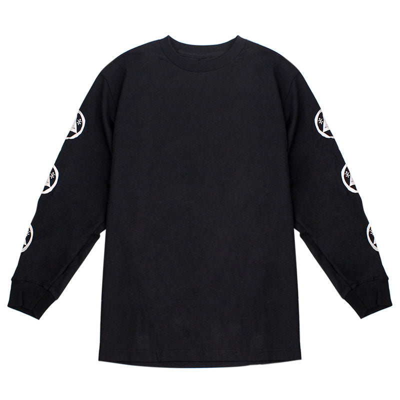 Welcome Skateboards Talisman L/S T Shirt in Black / Teal