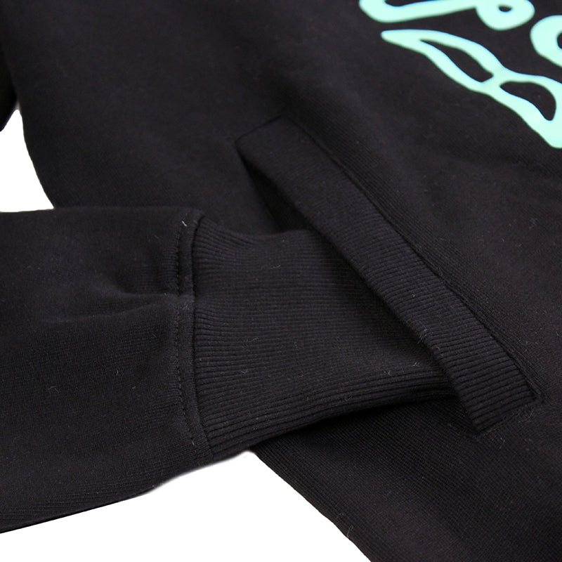 14:01 Skateboard Co Cruise or Lose Slim Fit Hoodie in Black / Mint - Pocket