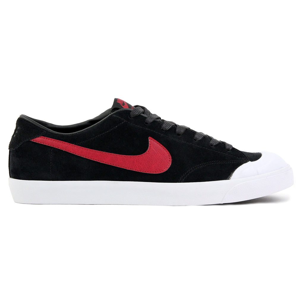 Nike SB Zoom All Court CK QS Shoes in Black / Team Red / White