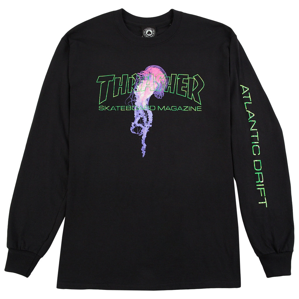 Thrasher x Atlantic Drift L/S T Shirt in Black