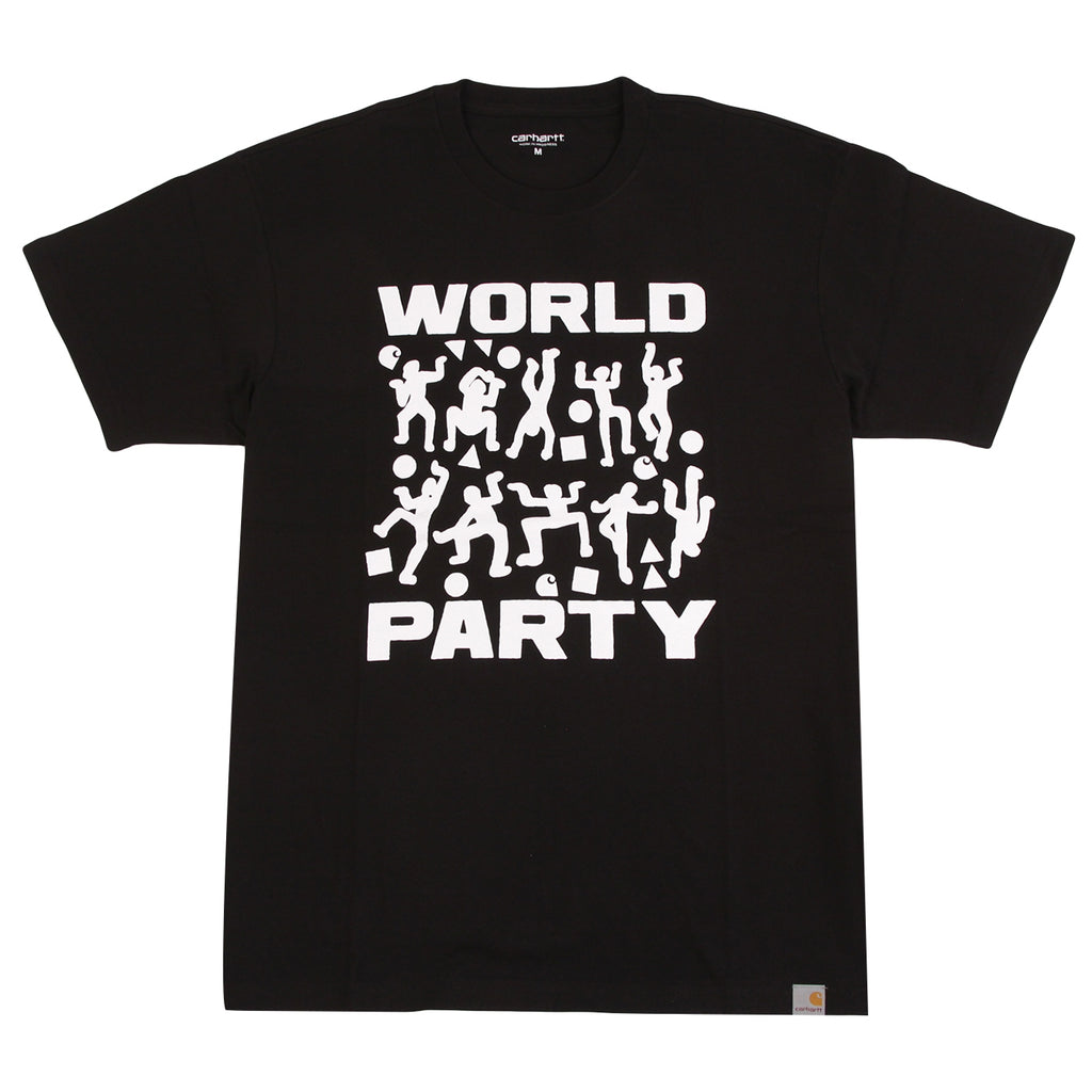 Carhartt World Party T Shirt in Black / White
