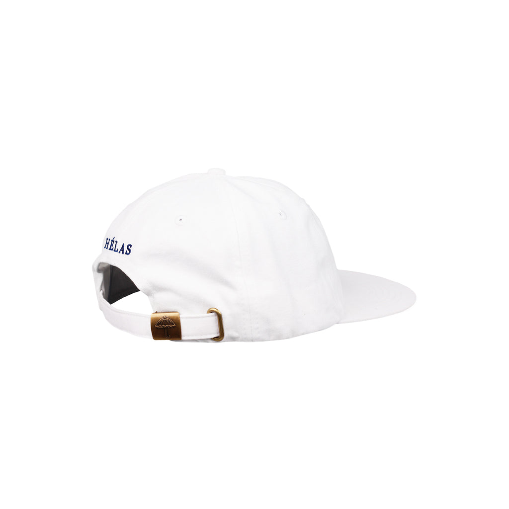 Helas Classic 6 Panel Cap in White / Navy - Side