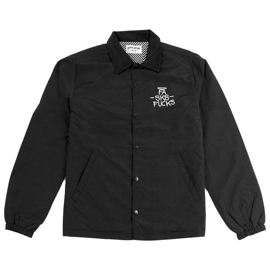 Fucking Awesome SK8 Fucks Coaches Jacket in Black