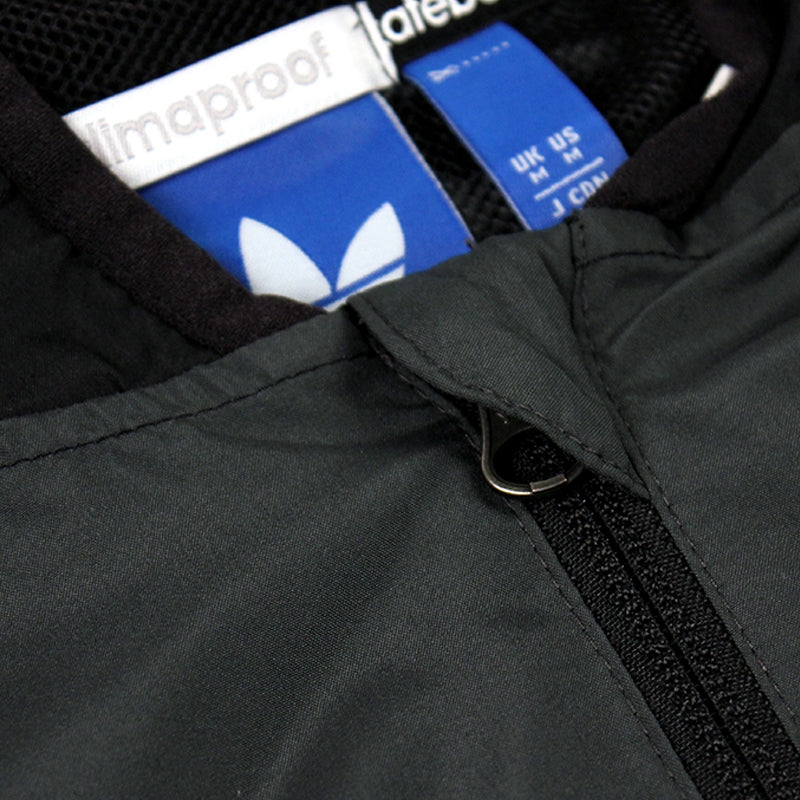 Adidas Skateboarding ADV Wind Jacket in Black/Solid Grey - Zip Detail