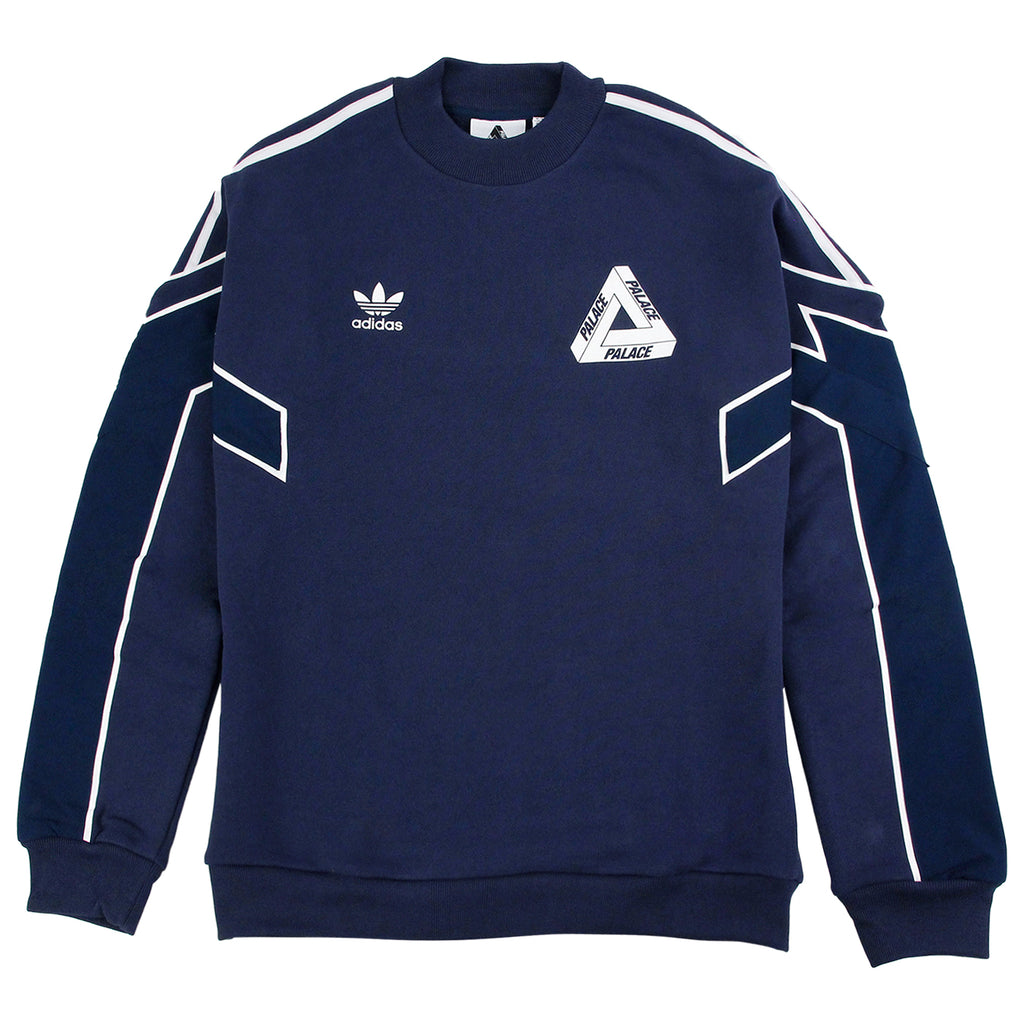 Palace x Adidas Crew Neck Sweatshirt in Night Indigo