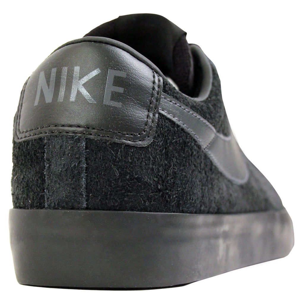Nike SB Blazer Low Grant Taylor Shoes in Black / Anthracite - Heel