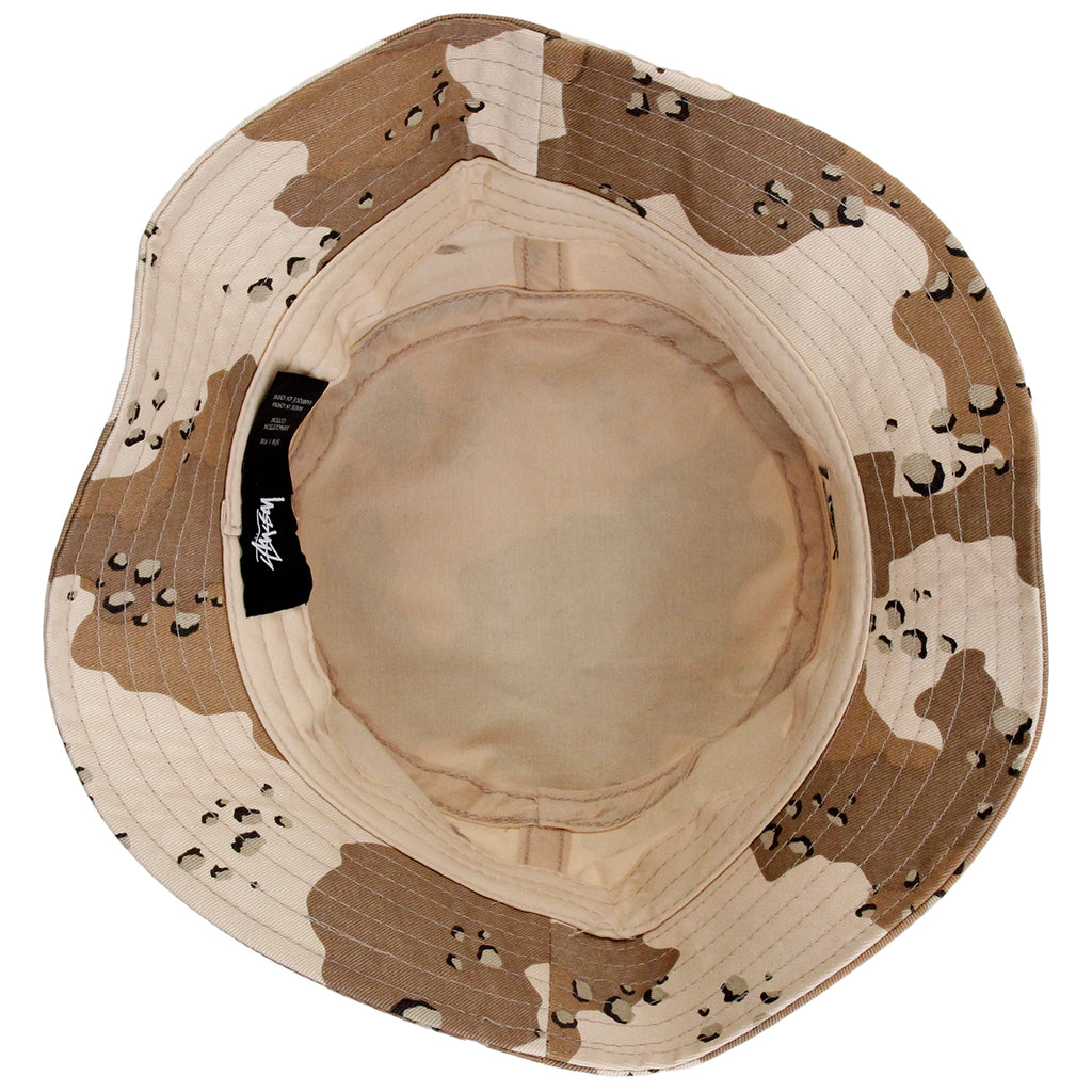 Stussy SS Link Bucket Hat in Desert Camo - Inside