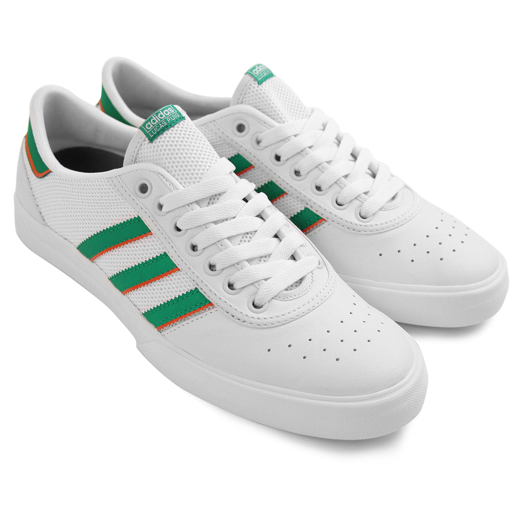 Adidas Lucas Premiere ADV Shoes in White / Green / White - Pair