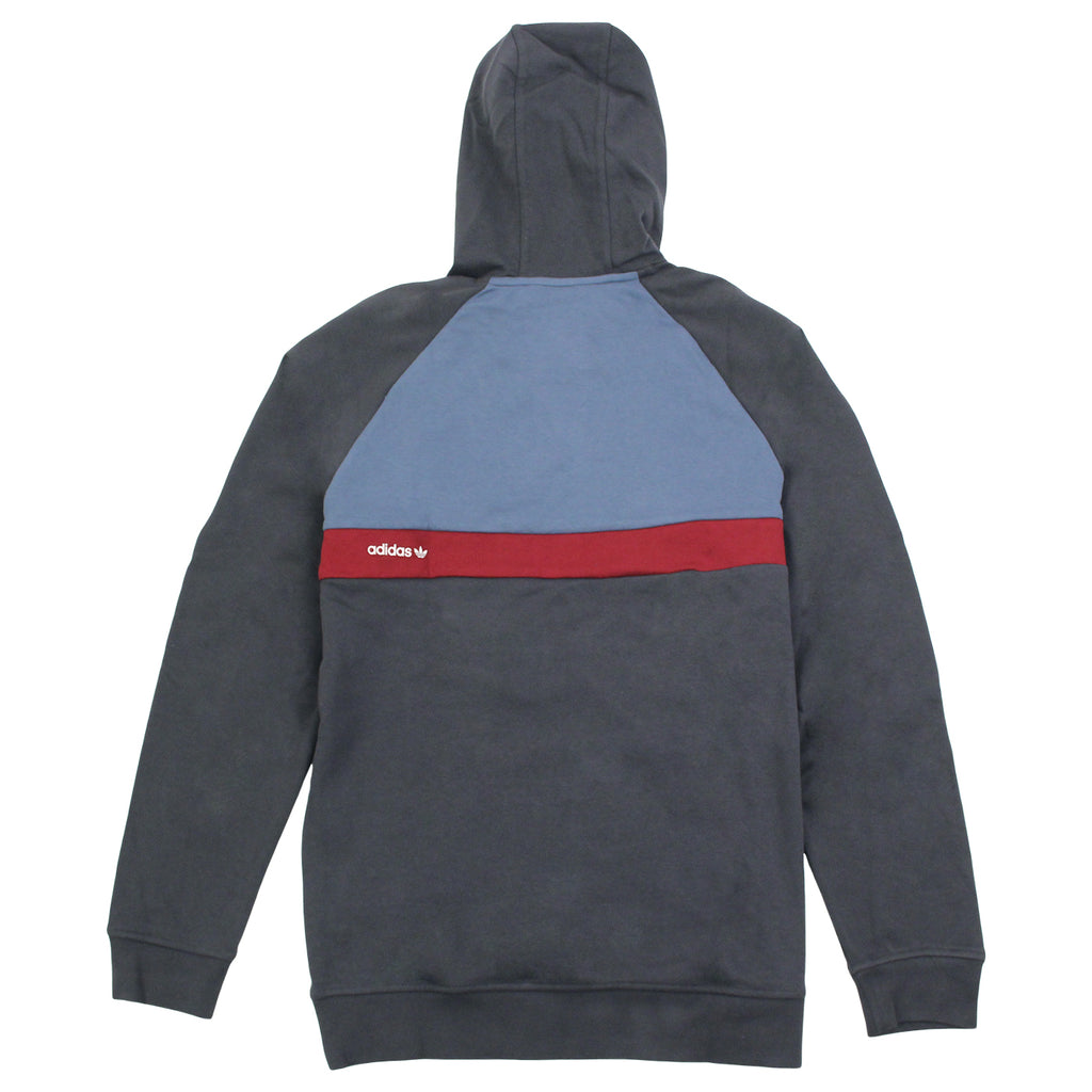 Adidas Skateboarding ADV Blocked Hoodie in Carbon / Faded Ink / Burgundy - Back