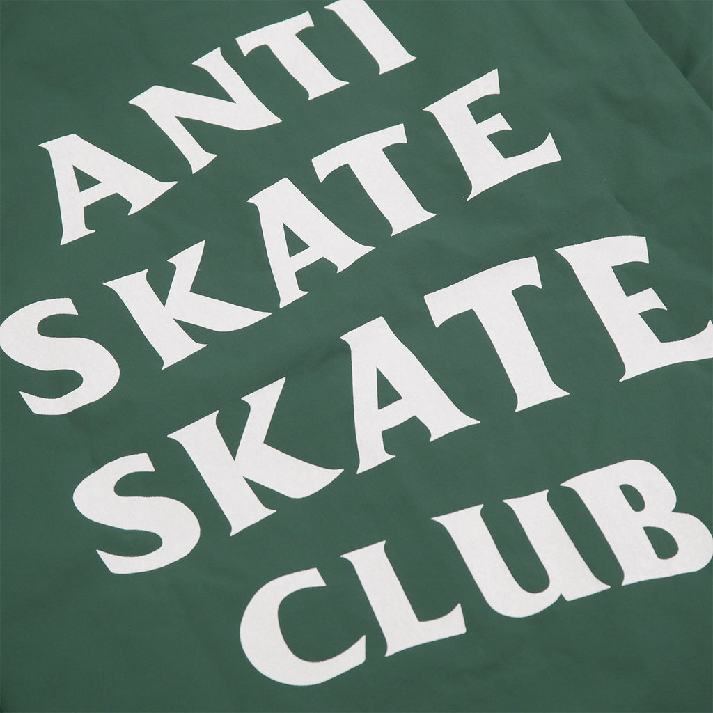 Bored of Southsea Anti Skate Club Coaches Jacket in Forest Green - Print