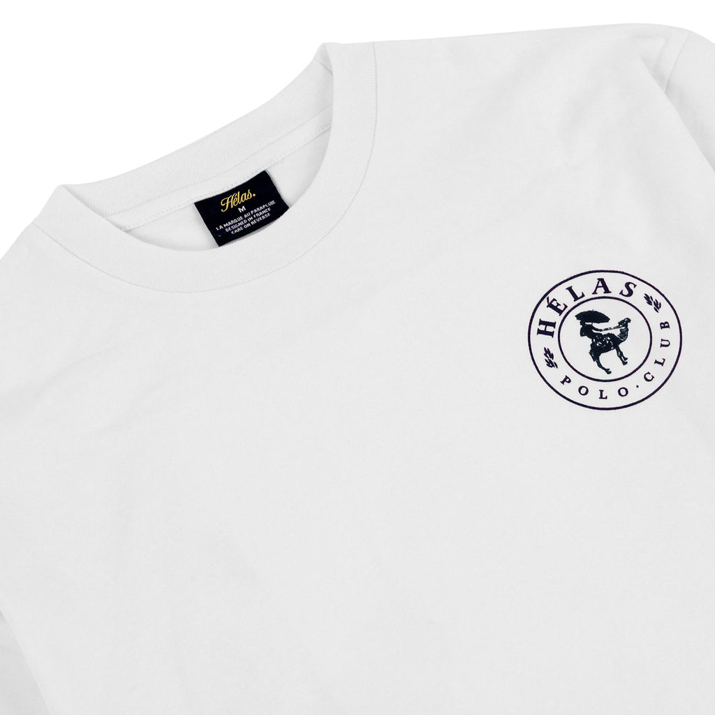 Helas Polo Club L/S T Shirt in White - Detail
