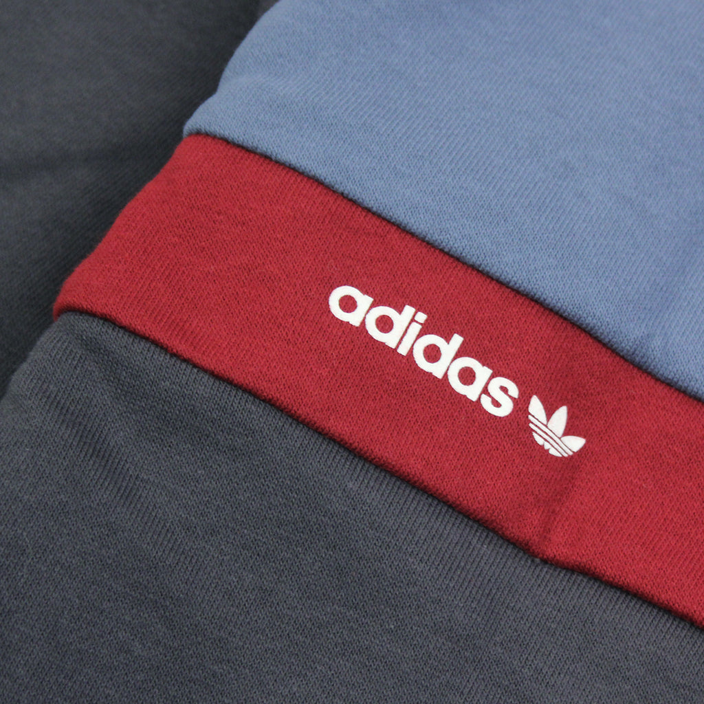 Adidas Skateboarding ADV Blocked Hoodie in Carbon / Faded Ink / Burgundy - Back print