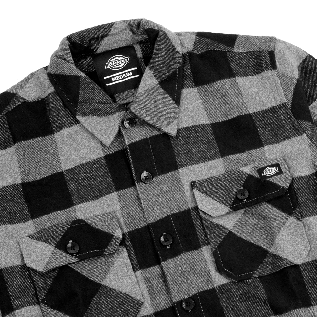 Dickies Sacramento Shirt in Grey Melange - Detail