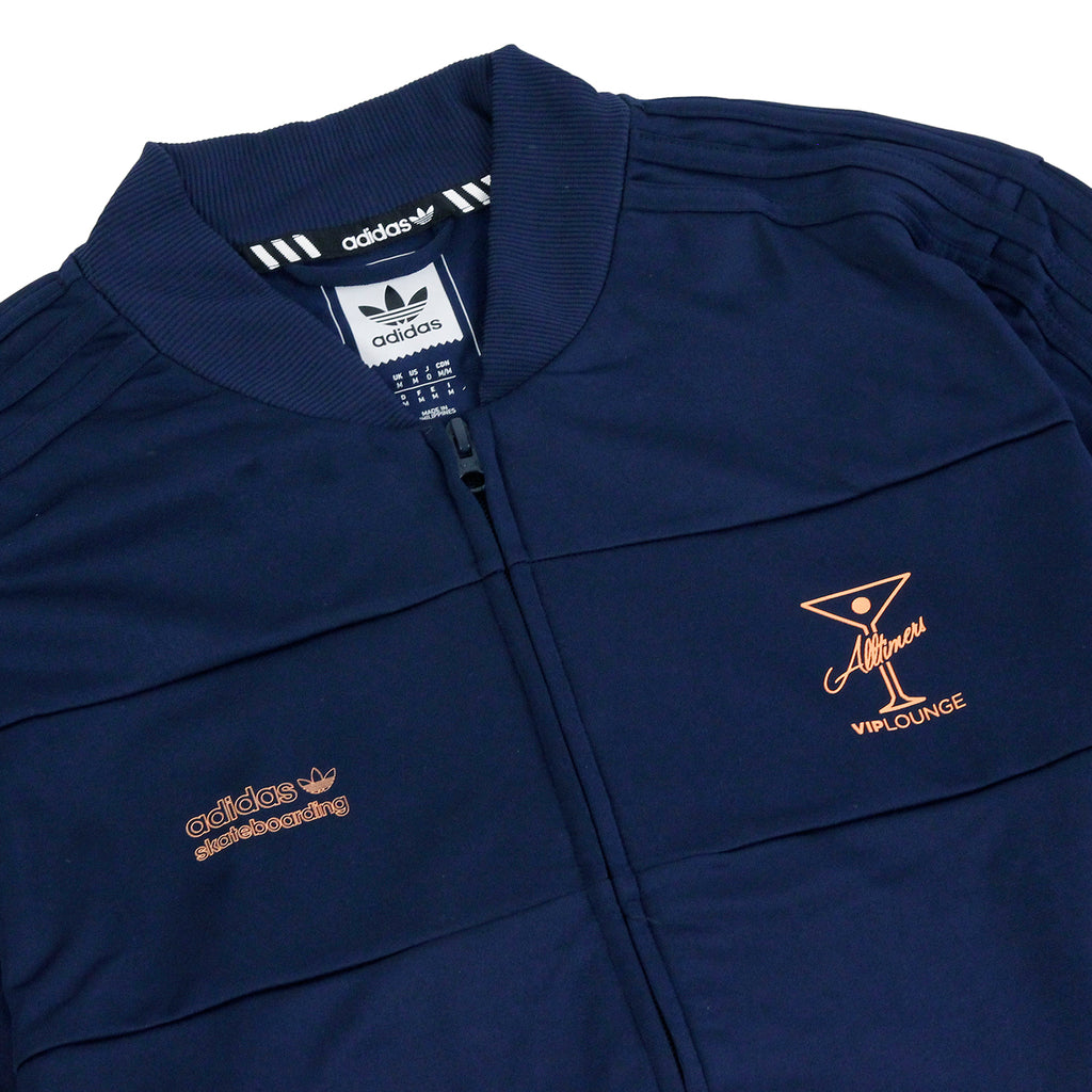 Adidas Skateboarding x Alltimers Track Jacket in Collegiate Navy - Detail