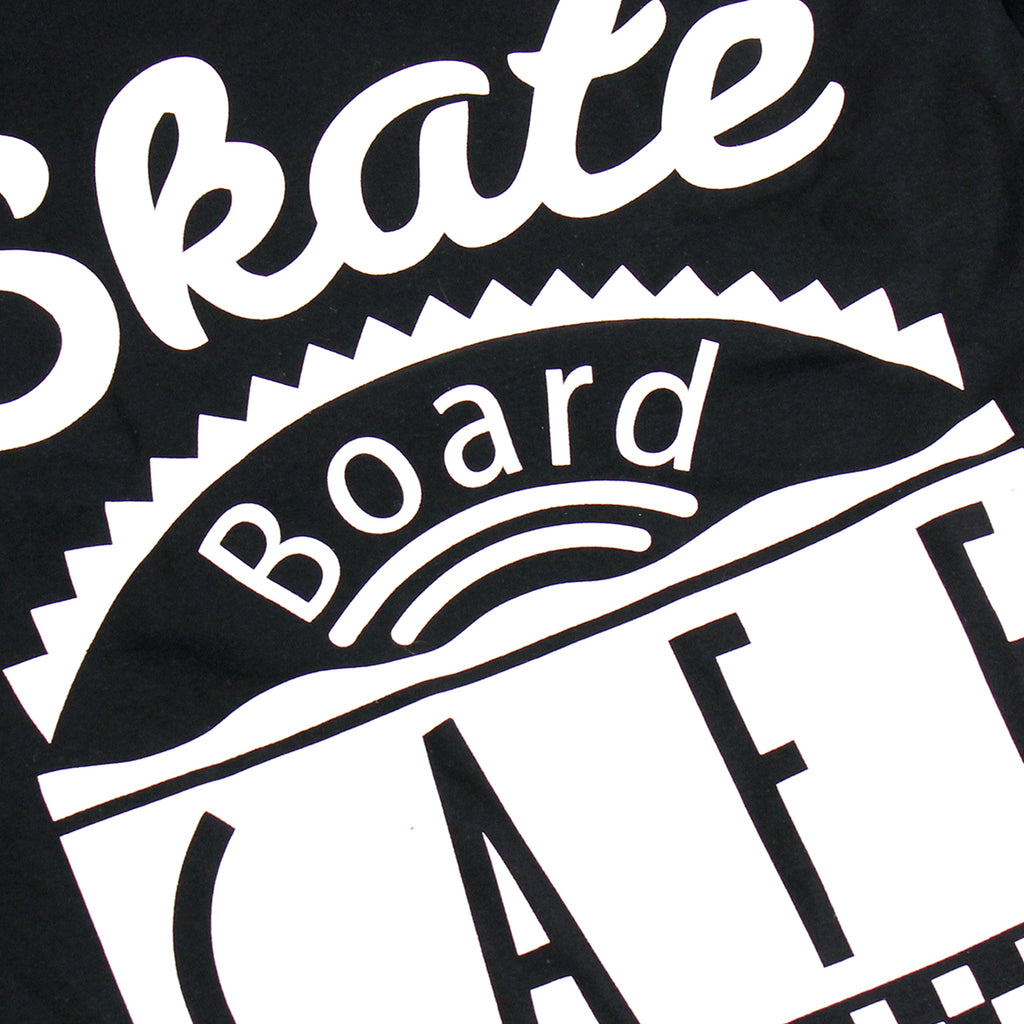 Skateboard Cafe Diner L/S T Shirt in Black - Print