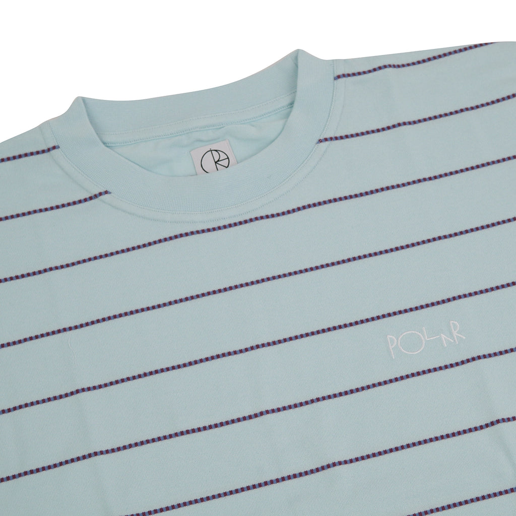 Polar Skate Co Check Surf T Shirt in Ice Blue - Detail