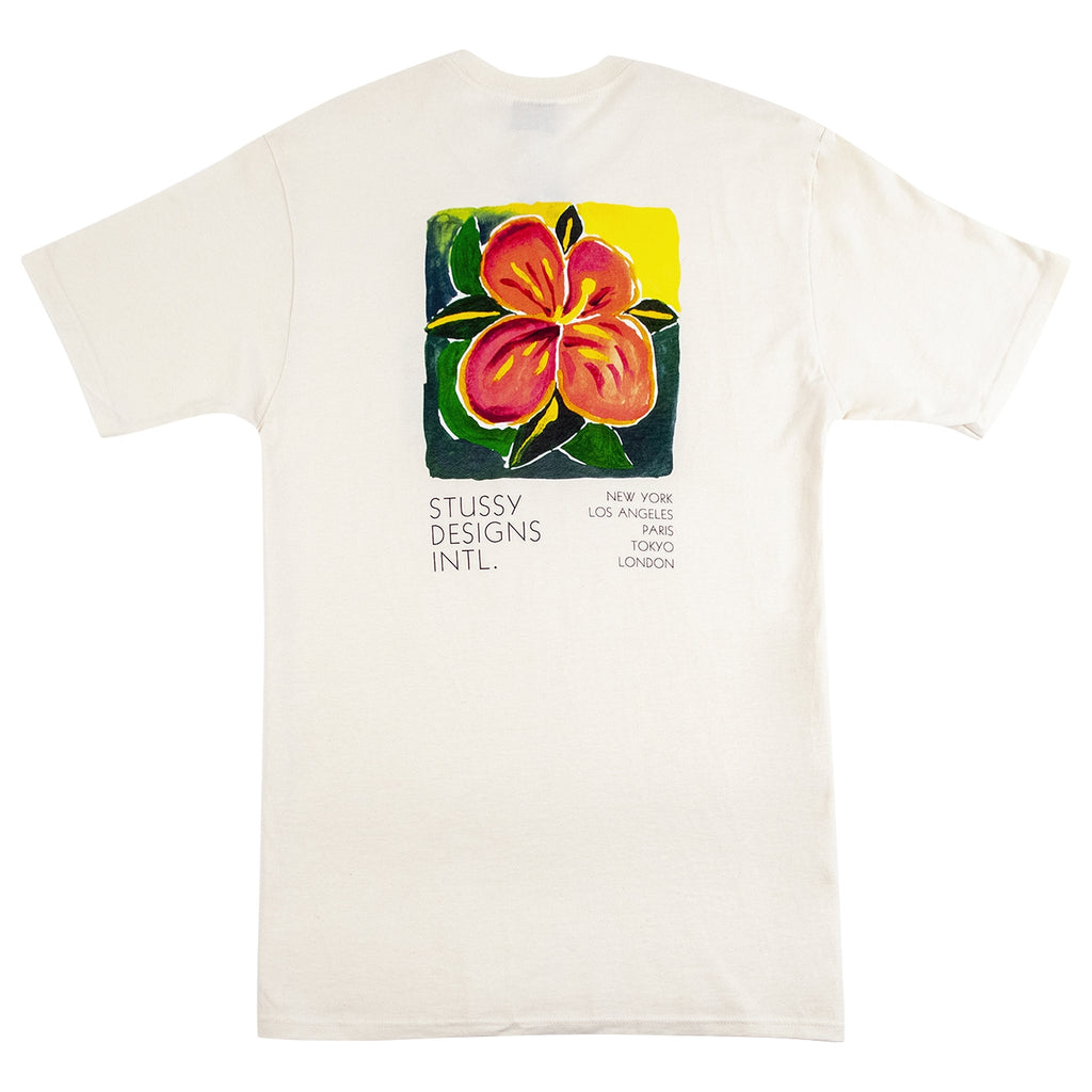 Stussy Hibiscus T Shirt in Natural