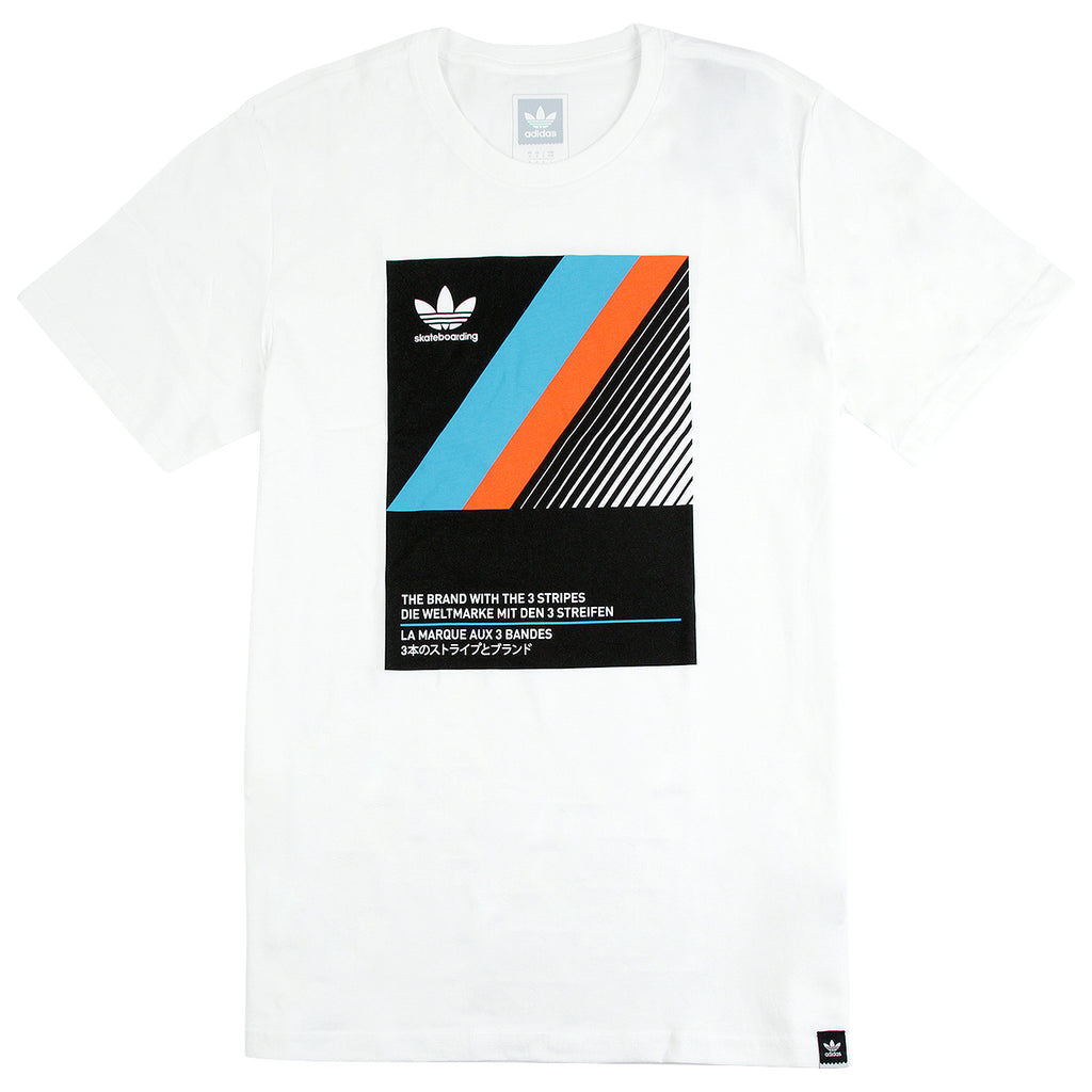 Adidas Skateboarding VHS Block T Shirt in White