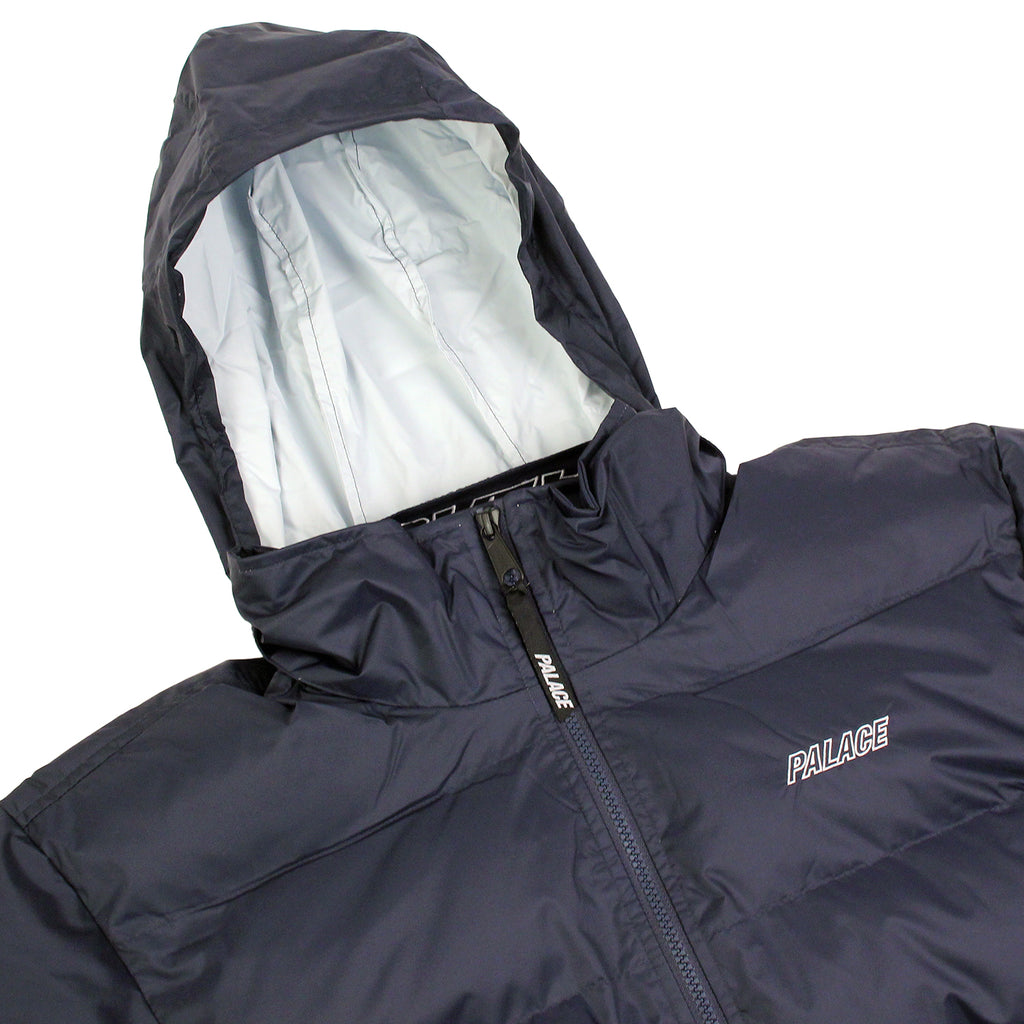 Palace Puffa Jacket in Blue Nights / Flinstone - Hood