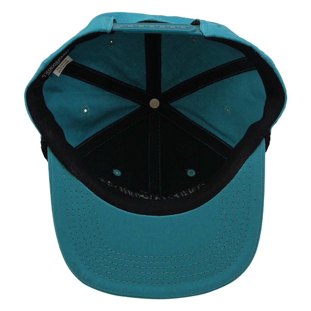 Thrasher Rope Snapback Cap in Teal / Black - Inside