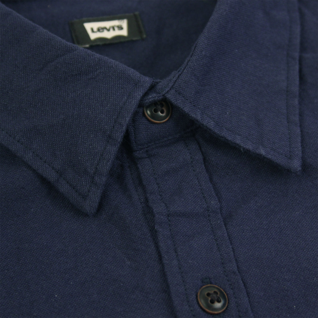Levis Skateboarding Reform Shirt in Night Sky - Collar