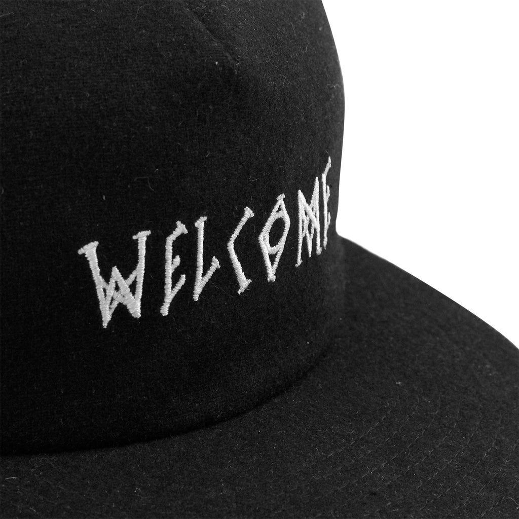 Welcome Skateboards Scrawl Wool Strapback Cap in Black - Detail 2