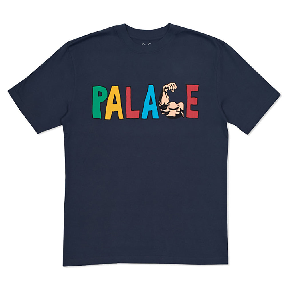 Palace Muscle T Shirt in Navy