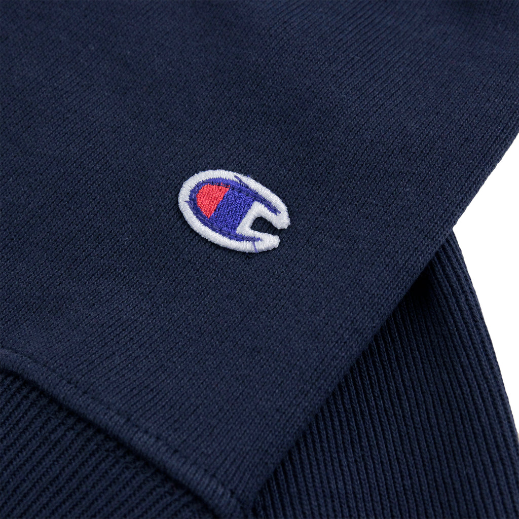 Champion 3 Panel Crew Neck Sweatshirt in Navy / White / Red - Patch