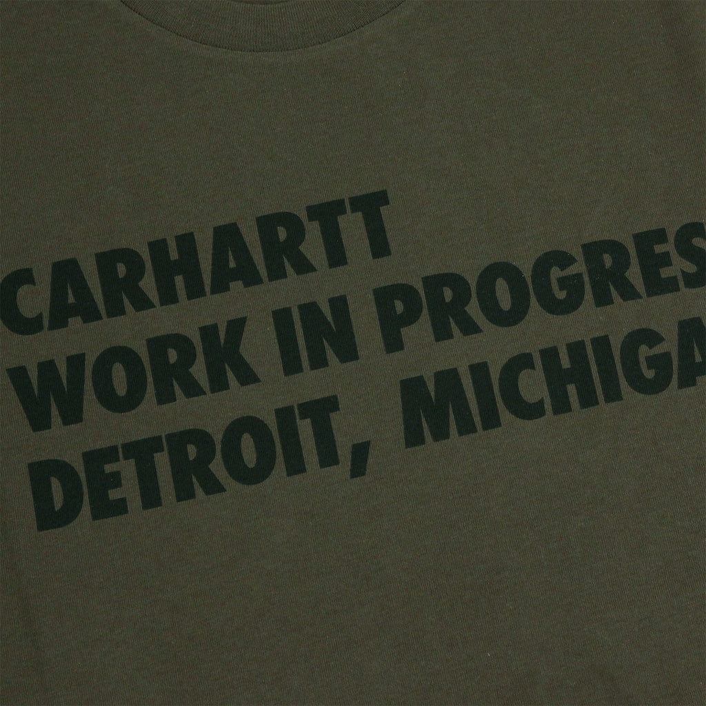 Carhartt S/S Bold Type T Shirt in Cypress / Black - Print