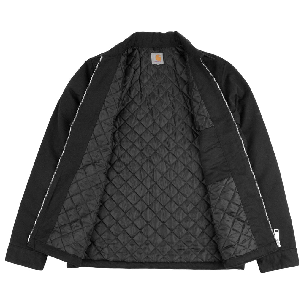 Carhartt Modular Jacket in Black Rinsed - Open