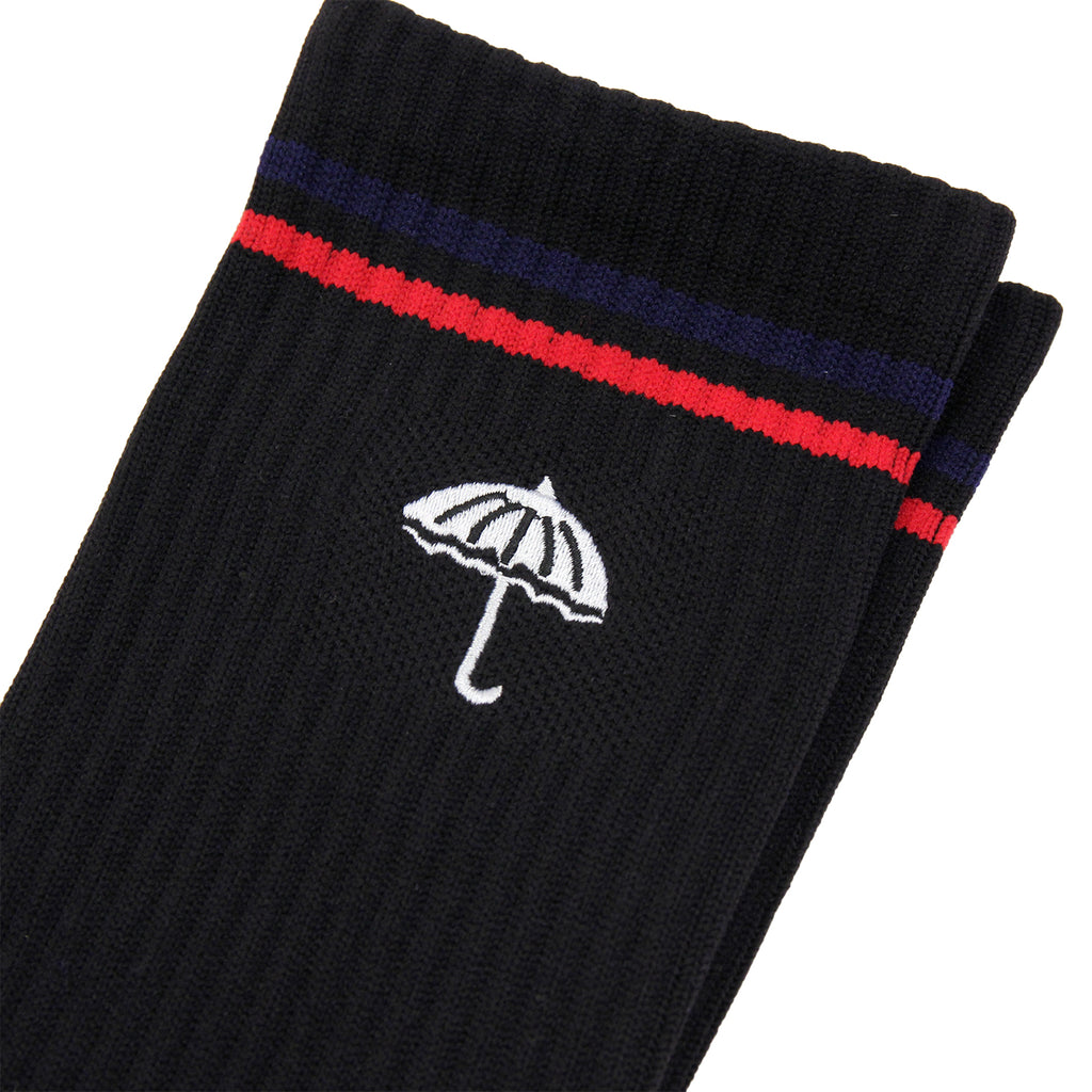 Helas Court Socks in Black / White - Embroidery