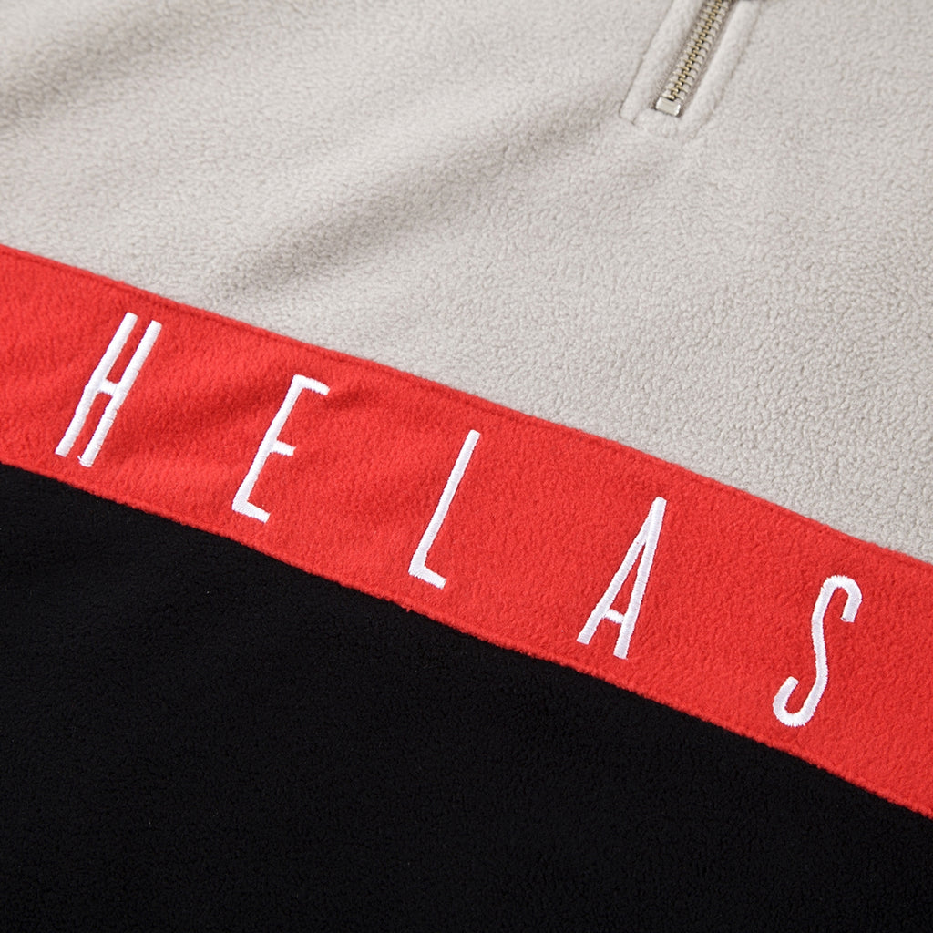 Helas Quarter Zip Fleece in Black - Embroidery