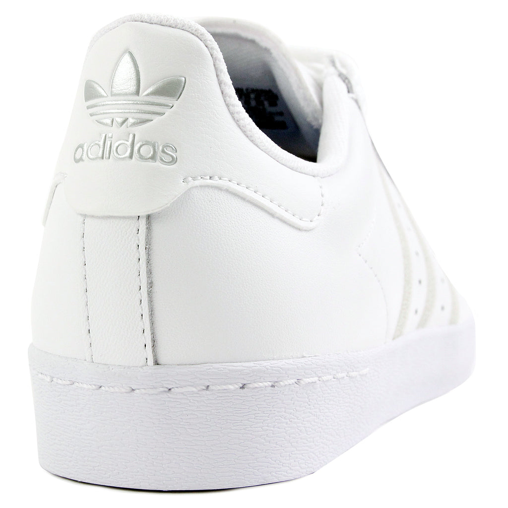 Adidas Skateboarding Superstar Vulc Shoes - White / White / Silver Metallic - Heel