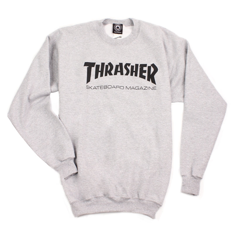 Thrasher Skate Mag Logo Sweatshirt in Heather Grey