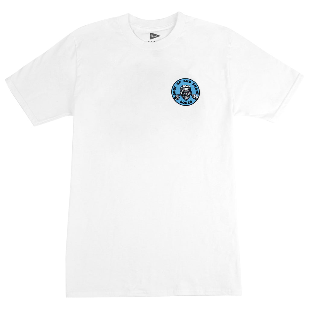 Bored of Southsea Shut up and Shant T Shirt in White / Blue