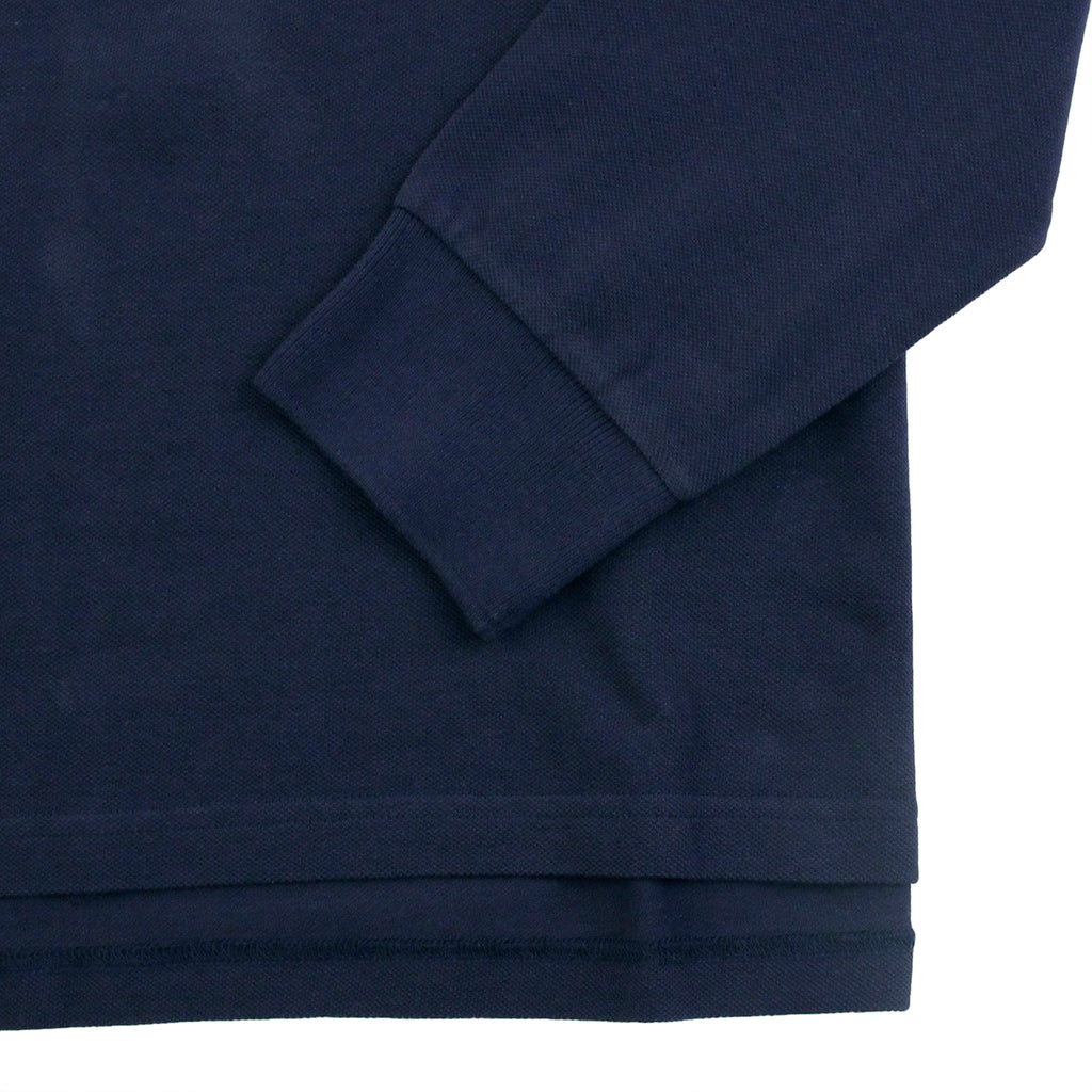 Carhartt WIP L/S Patch Polo Shirt in Blue - Sleeve
