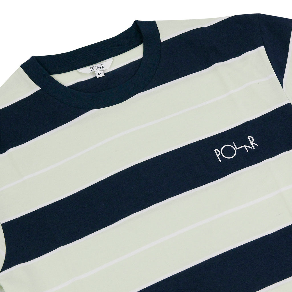 Polar Skate Co Dane T Shirt in Navy / Mint - Detail
