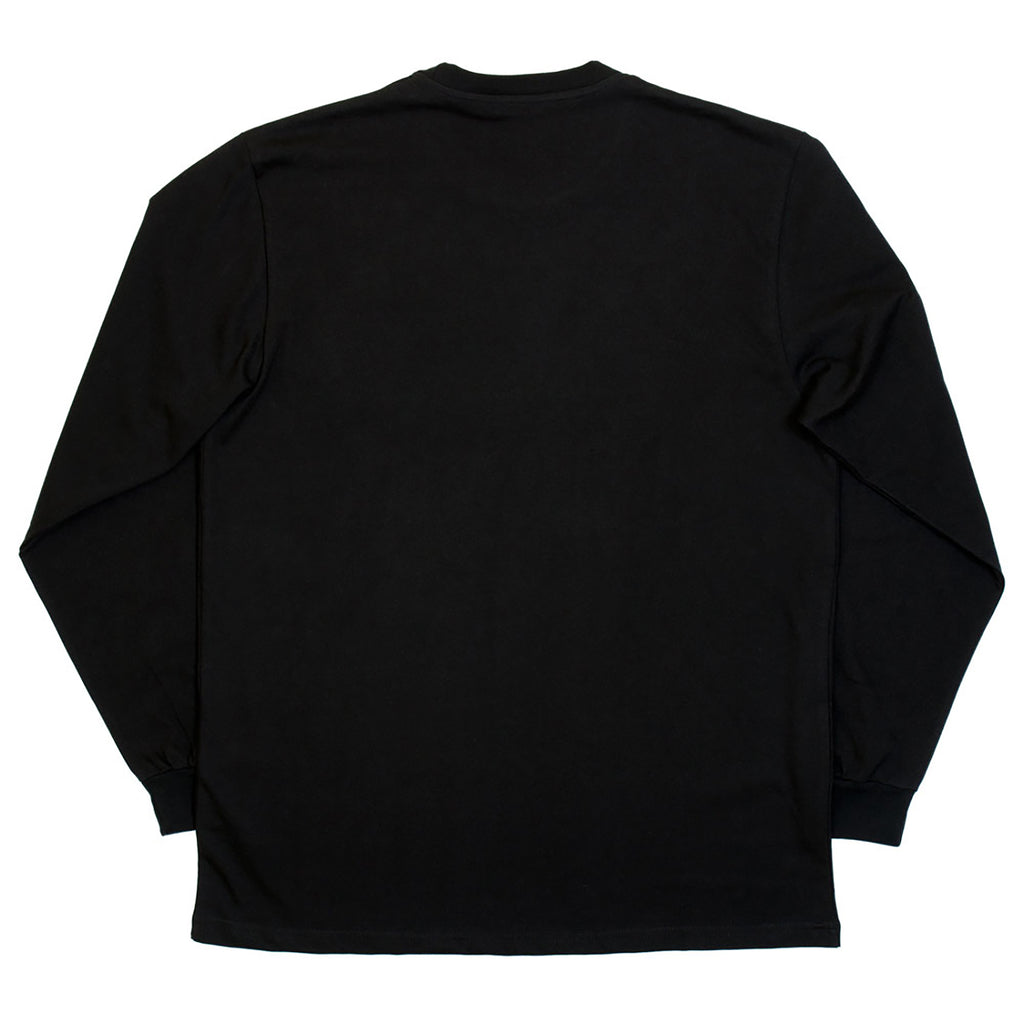 Polar Skate Co No Comply L/S T Shirt in Black / Yellow - Back