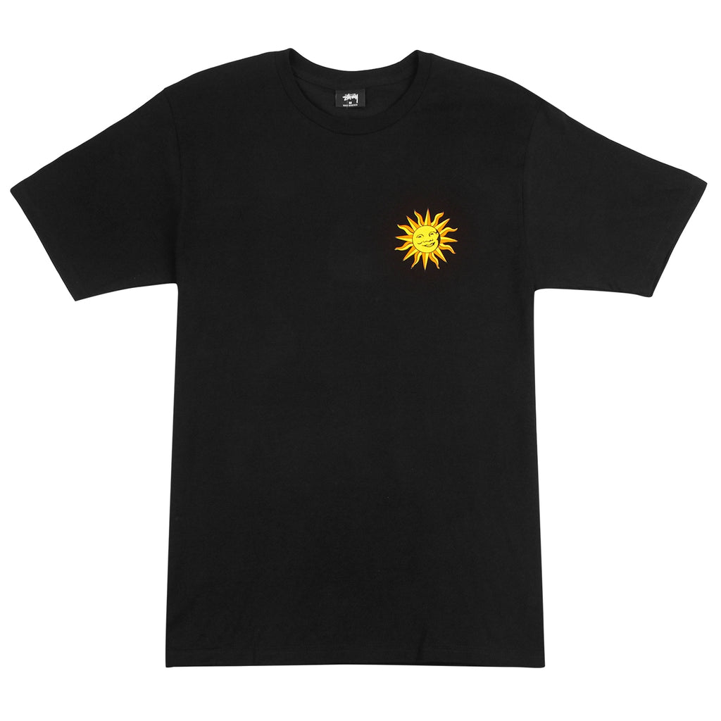 Stussy Int. Sun T Shirt in Black - Front