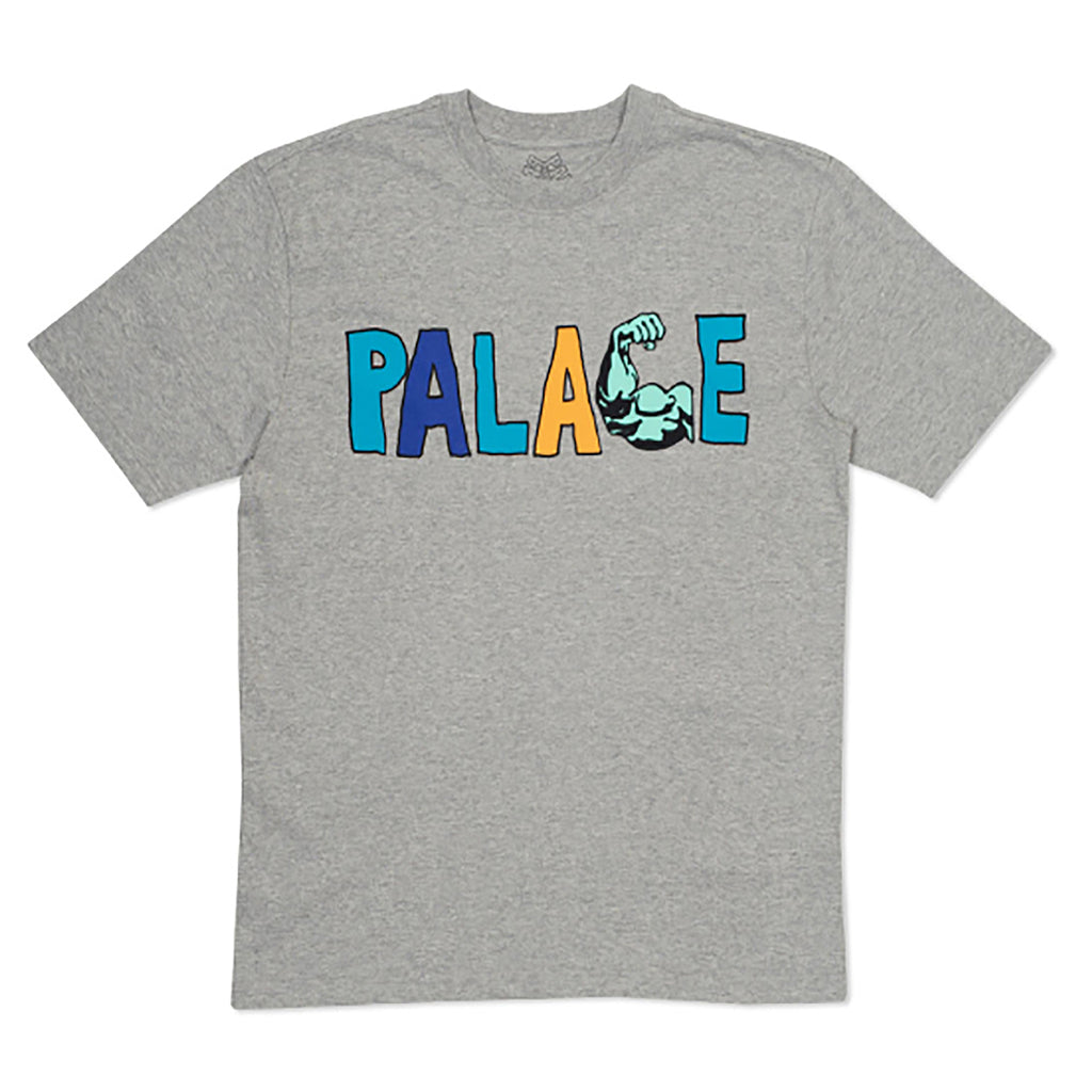 Palace Muscle T Shirt in Grey Marl