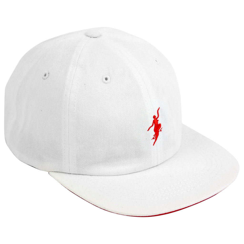 Polar Skate Co No Comply Cap in White / Red